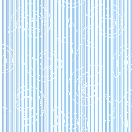 Striped seamless pattern with shells and seastars Vector