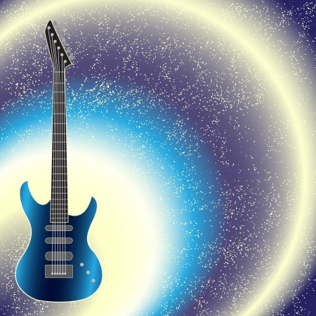 Background with shining guitar Vector