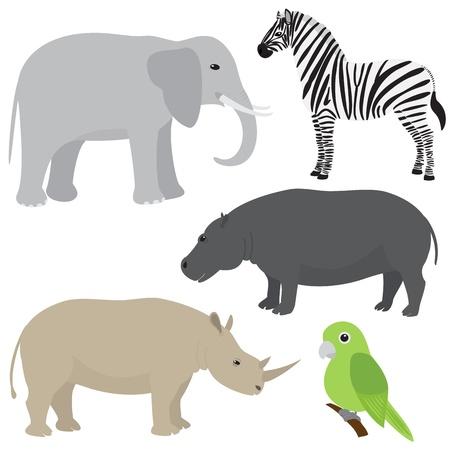 animaux africains de bande dessinée