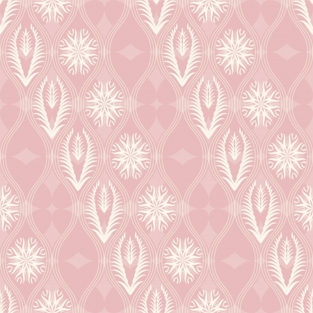 Abstract floral seamless pattern in japanese style Vector