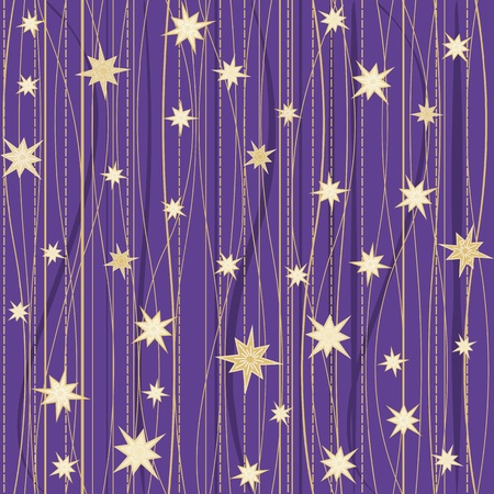 stripy: Violet stripy seamless pattern with stars Illustration