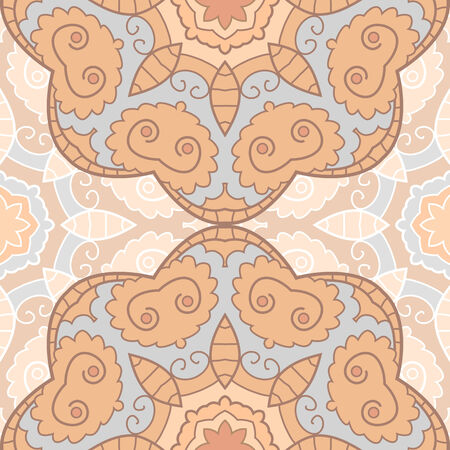 Delicate lace seamless background with circle ornament