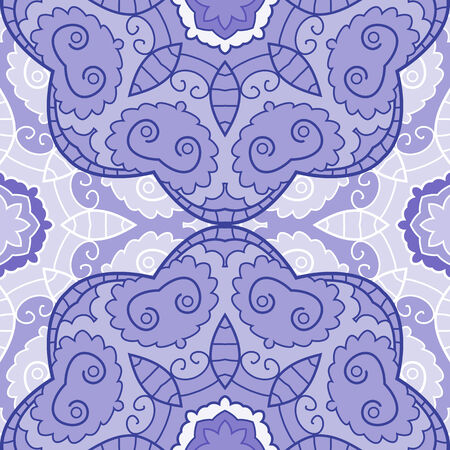 Violet lace seamless background with circle ornament Vector