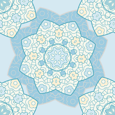 Lace seamless background with mandala ornament Vector