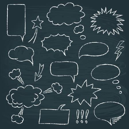 Comics style speech bubbles set Vector