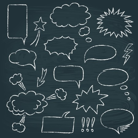 Comics style speech bubbles set Illustration