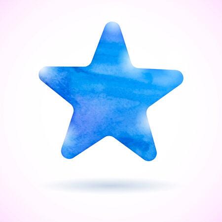 Blue watercolor star