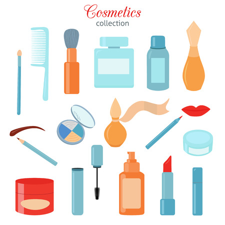 Cosmetic icons set Illustration