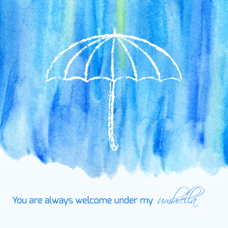 you are welcome: You are always welcome under my umbrella