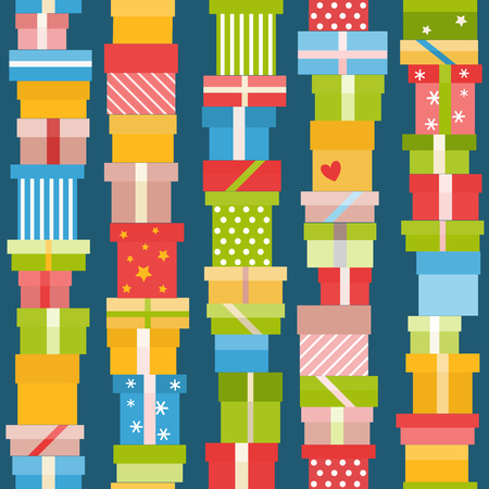 christmas presents: Seamless pattern with presents