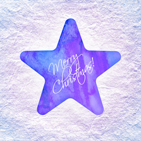Star with Merry Christmas text Vector