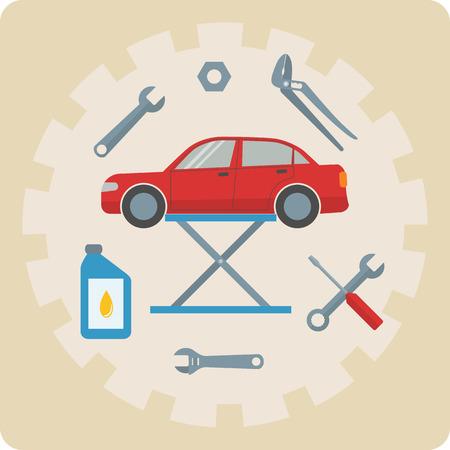 Car repair service icons