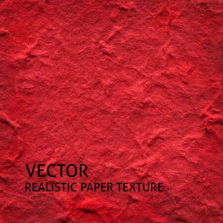 textured paper: Red textured paper vector background. Grunge paper texture.