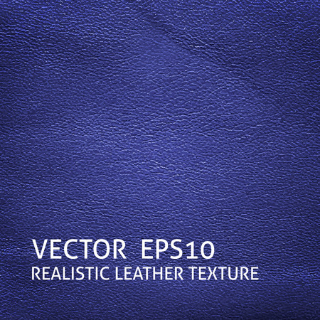 cow skin: Closeup blue leather texture. Grunge background. Illustration