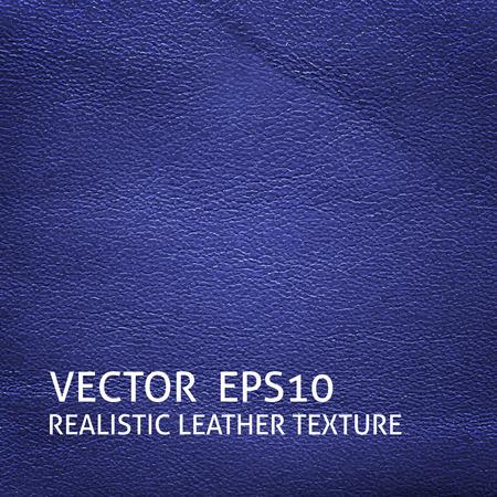 cowhide: Closeup blue leather texture. Grunge background. Illustration