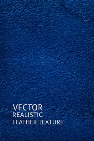 Closeup blue leather texture. Vertical background. Illustration
