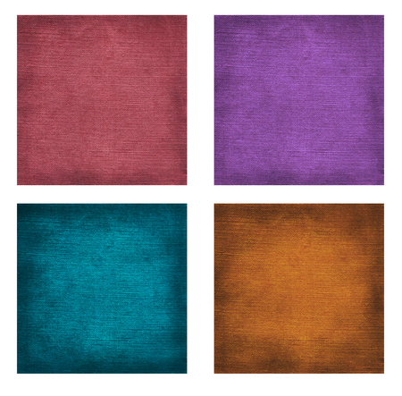 Colorful collection of square textured paper backgrounds