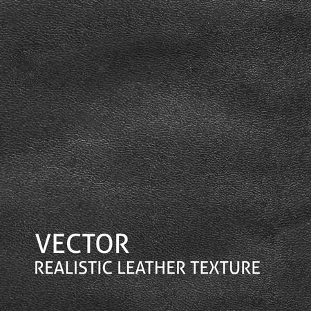 black leather: Closeup black leather texture. Grunge background. Illustration