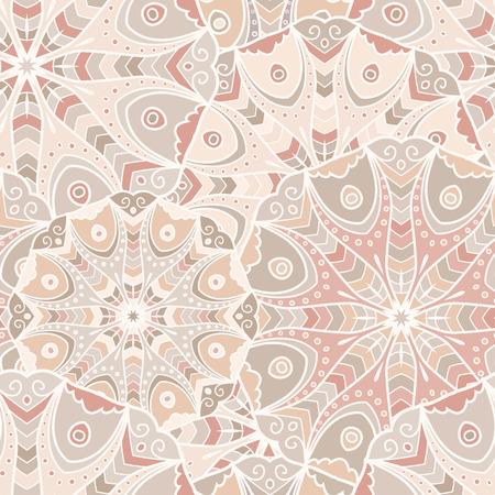 Lace seamless background with circle mandala ornament