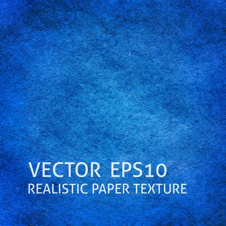 Blue craft paper background. Closeup paper texture. Illustration