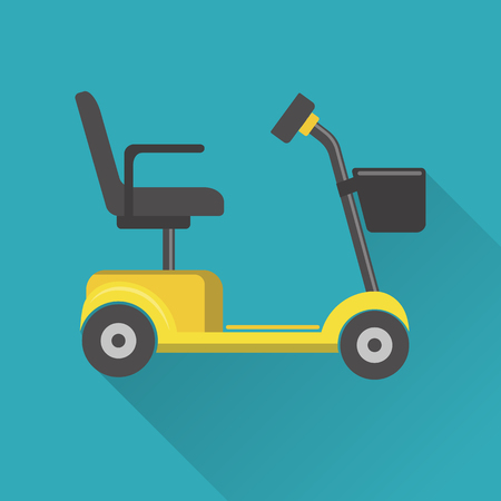 Flat style mobility scooter icon