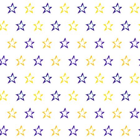 Seamless pattern with hand drawn stars Illustration