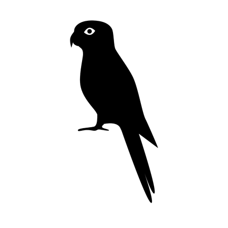 Rosella parrot silhouette icon in flat style. Australian tropical bird symbol on white background Banque d'images - 95401988