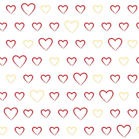 Seamless pattern with doodle hearts Illustration
