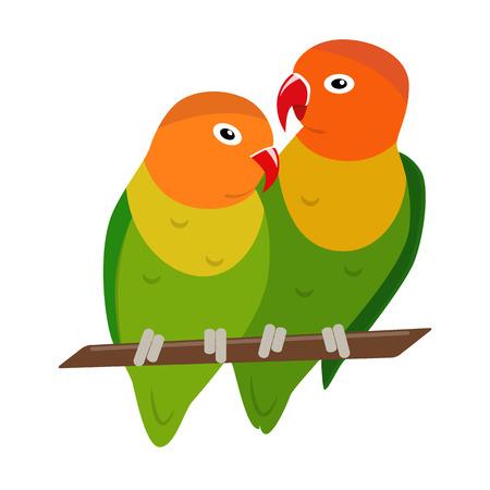 Dwergpapegaaien papegaaien pictogram in vlakke stijl