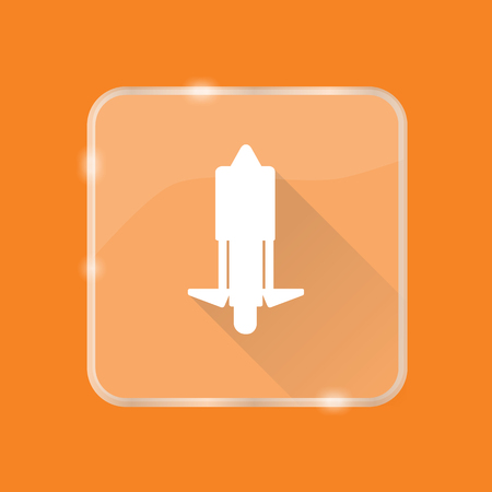 Flat style unicycle silhouette icon