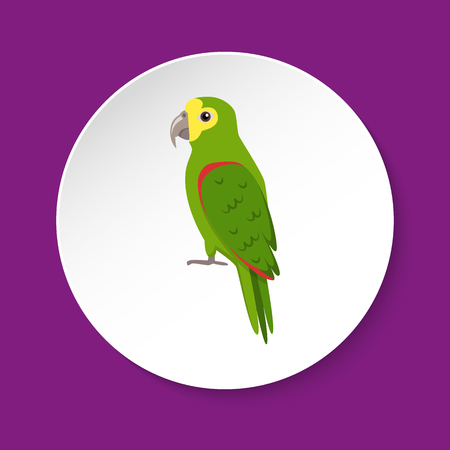 Amazon parrot icon in flat style Vectores