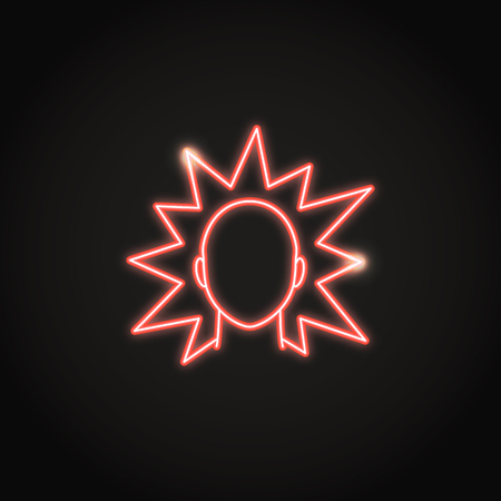 Irritation concept neon icon in line style Illustration