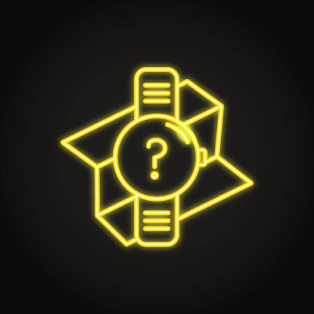 GPS watch icon in neon line style