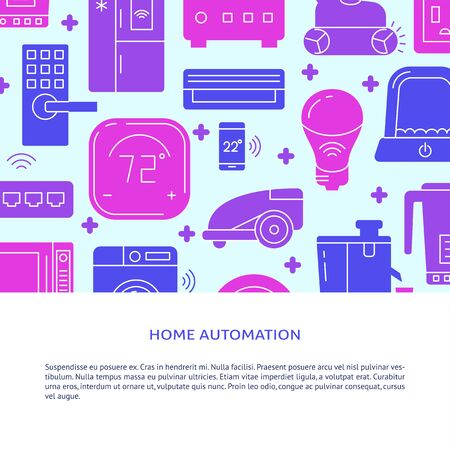 Home automation poster template with place for text 向量圖像