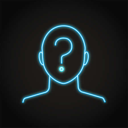 Anonymity concept icon in neon line style