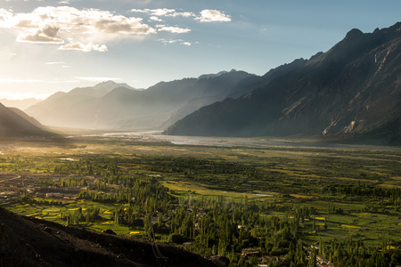 Nubra Valley in the evening