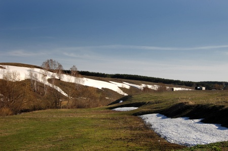 Spring last snow Stock Photo - 14054849