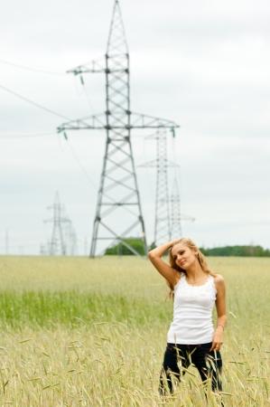 straining: power poles