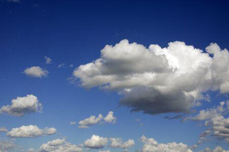 Cloud  High in the sky blue  Cumulus clouds  A blue sky photo