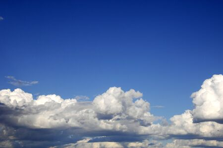 Cloud  High in the sky blue  Cumulus clouds  A blue sky photo
