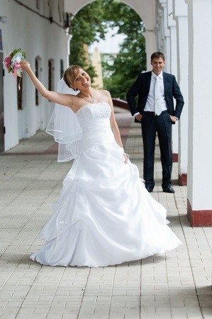 wedding, bride, married, love, women, happiness, dress, people, romance, celebration, couple, cheerful, female, flower, smiling, beautiful, adult, togetherness, young, bouquet, outdoors, men, ceremony, two, newlywed, lifestyles, white, reception, male, be photo