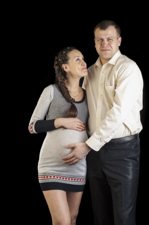He and shes pregnant, photographed in the studio photo