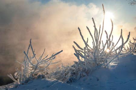 River winter in Russia  Tatarstan Kama Stock Photo - 16888088