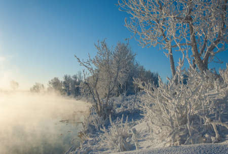 River winter in Russia  Tatarstan Kama Stock Photo - 16888116