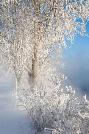 River winter in Russia  Tatarstan Kama Stock Photo - 16987830