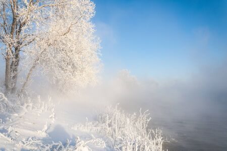 River winter in Russia  Tatarstan Kama Stock Photo - 16987732