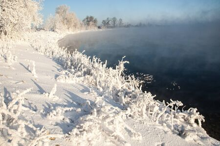 River winter in Russia  Tatarstan Kama Stock Photo - 16987787