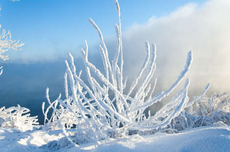 kama: River winter in Russia. Tatarstan Kama
