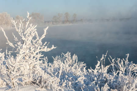 River winter in Russia. Tatarstan Kama photo