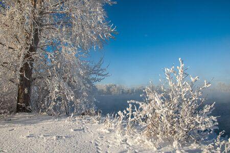 River winter in Russia  Tatarstan Kama Stock Photo - 17074453